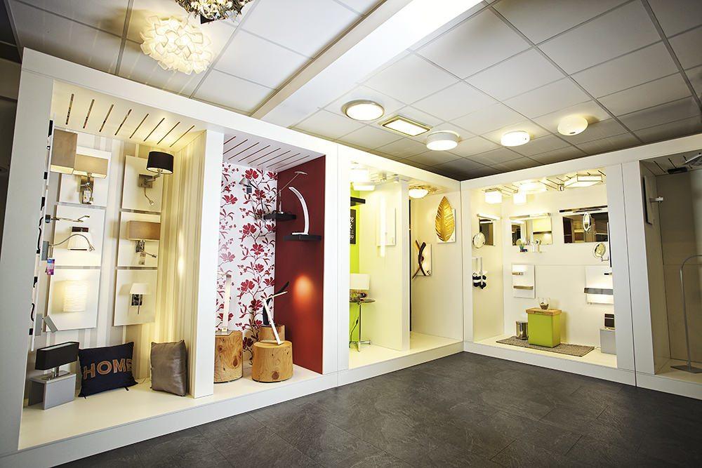 Lichtraum Showroom, Innenleuchten